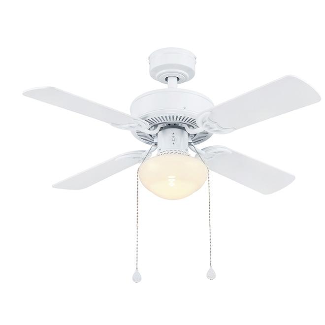 Ventilateur de plafond Harbor Breeze, 4 pales réversibles, blanc et bois flotté, 36 po de diamètre