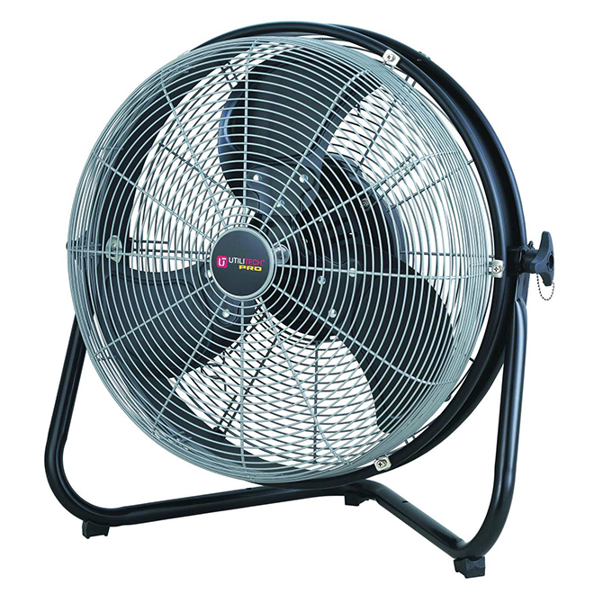 "Commercial Floor Fan - 18"" - Black And Silver"