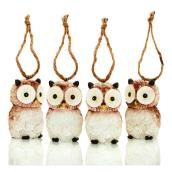 Holiday Living Ornamental Owls - Friendly Forest - Brown - 4/Pack