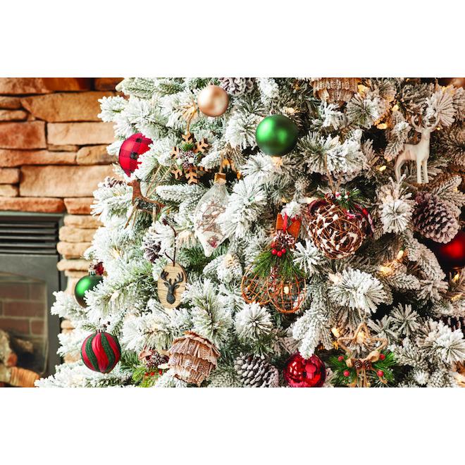 Holiday Living Ornamental Deers - Rustic Tidings - Brown - 4/Pack