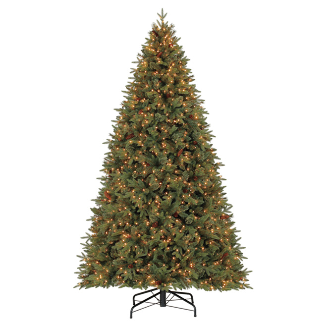 9' Illuminated Christmas Tree - 1450 Warm White Lights