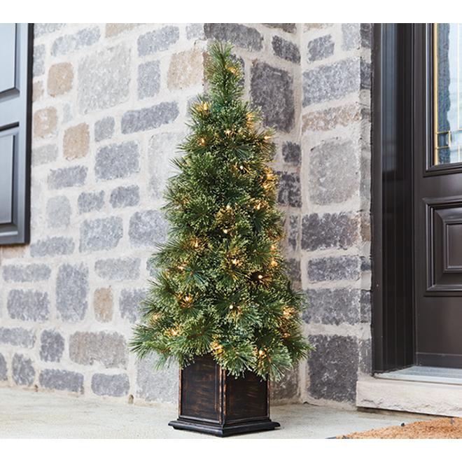 Illuminated Christmas Porch Tree - 3.5' - 50 Lights