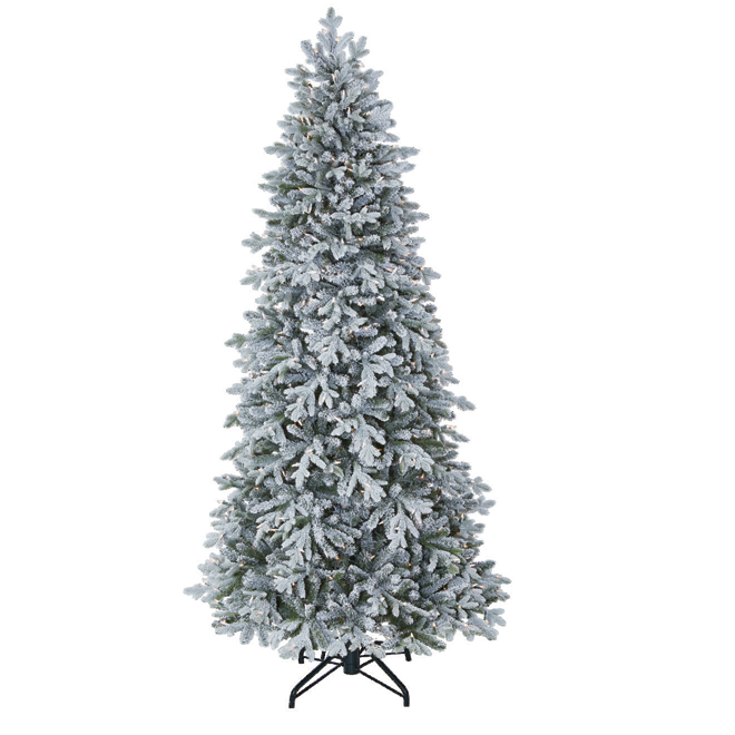 Holiday Living Prelit Tree - Frosted - 2841 Tips - 7.5'
