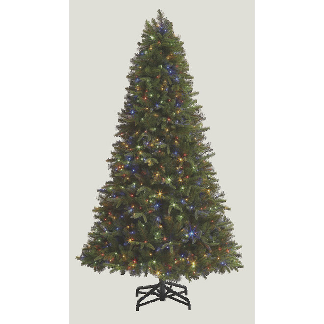 Holiday Living Durham Prelit Tree with 450 Lights and 2153 Tips - 7.5-ft