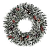 Holiday Living Battery Powered Christmas Wreath Ellen Ville - 50 Warm White LED Lights - 30-in
