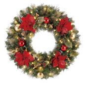 Couronne de Noël alimentée par piles Chesapeake de Holiday Living, 50 lumières DEL blanc chaud, 30 po