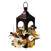 Holiday Living Harvest 17-in Yellow Lantern With Sunflowers Centerpiece