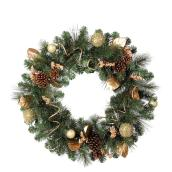 Holiday Living 30-in Pre-Lit Indoor/Outdoor Battery-Powered Green Artificial Christmas Wreath