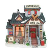 "Lighted Hunting Lodge for Christmas Village - 8,1"" x 6"""