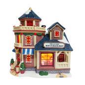Lighted Restaurant for Christmas Village - 8.2