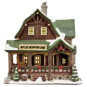Ceramic Lodge for Christmas Village