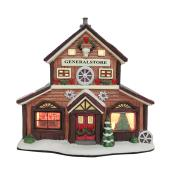 Ceramic General Store for Christmas Village