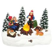 Campfire with Kids - Polyresin
