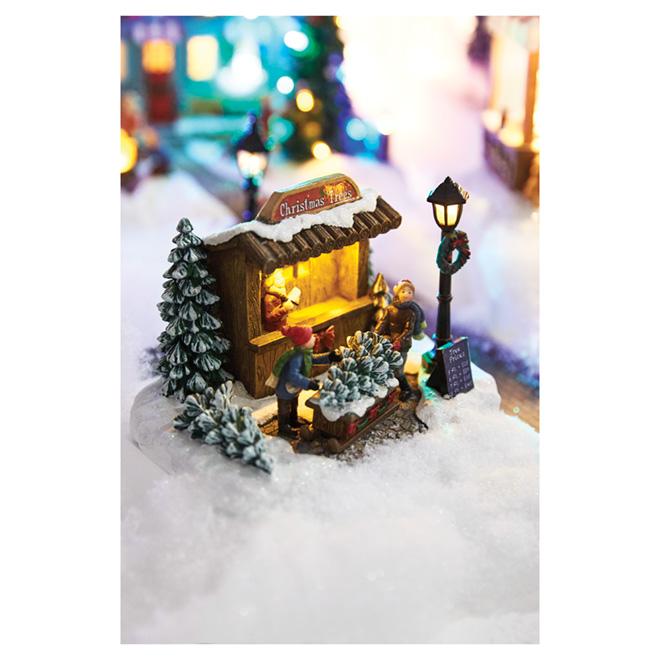 Magasin de Noël en polyrésine