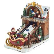 Santa Claus with Conveyor - Polyresin