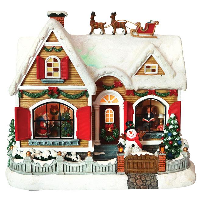 Polyresin Christmas House