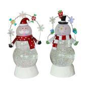Boule à neige, Bonhomme ou père Noël, 9,8'' - Assortis