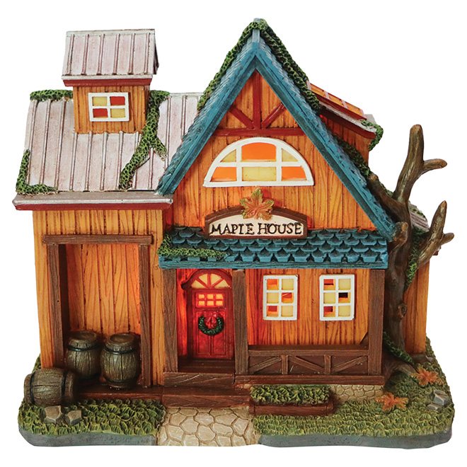 Maple House for Christmas Village - Polyresin