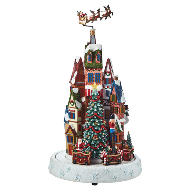 animated christmas village led - Animated Christmas Village