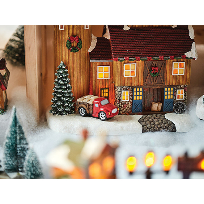 """Winery House for Christmas Village - 8.7"""" - Multicolour"""