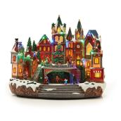 Animated Christmas Village - Polyresin - LED - 13.6""