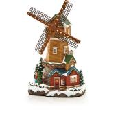 """Lighted Windmill for Christmas Village - 12"""" - Multiple Colours"""