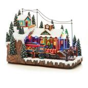 Lighted and Animated Train for Christmas Village - LED - 11""