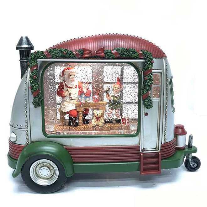 Natures Mark Santa's Car LED Lighted and Animated - Plastic - 7.9-in - Multicolour
