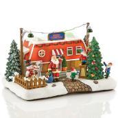 Caravane de Noël Carole Towne illuminée