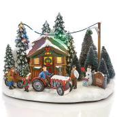 Ferme d'arbres de Noël Carole Towne illuminée