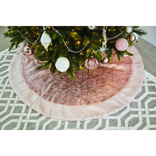Holiday Living Tree Skirt - Polyester - 48-in - Gold