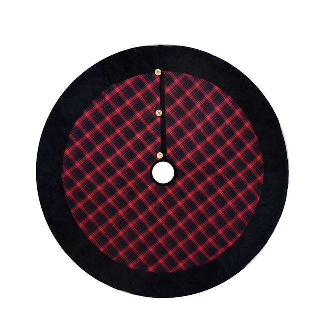 Holiday Living Tree Skirt - 48-in - Red and Black