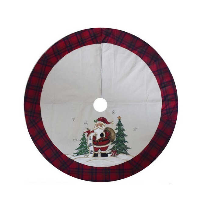 Holiday Living Santa Tree Skirt - Polyester/Acrylic - 48-in - White