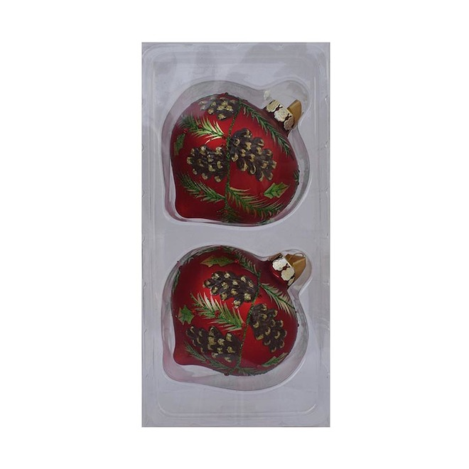 Holiday Living 2-Pack Red Glass Onion Ornament Set