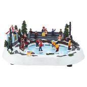 Scène de patinage animée musicale