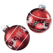 Christmas Ornaments - Red - Pack of 4