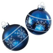 Boules de Noël, bleu, paquet de 4