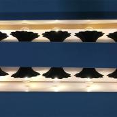 Jeu de 10 lumières sur fil, DEL, 9', noir mat