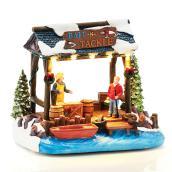 Bait-N-Tackle Fishing Kiosk for Christmas Village - Lighted