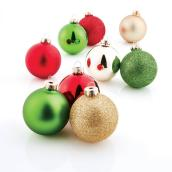 "Tree Ornaments - 3.5"" - Glass - Multicolour - 28-Pack"