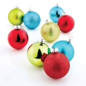 "Tree Ornaments - 2.6"" x 3.5"" - Glass - Multicolour - 28-Pack"