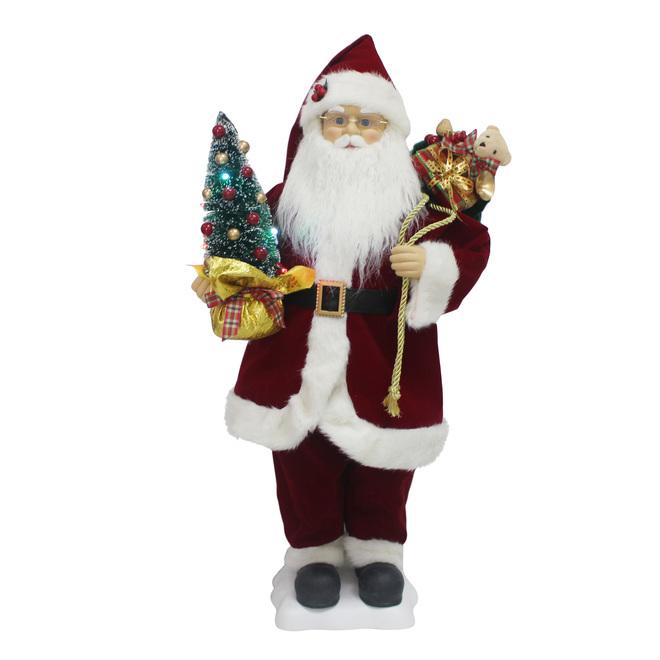 Holiday Living Animated Musical Santa - LED Illuminated - 28-in - Multicolour