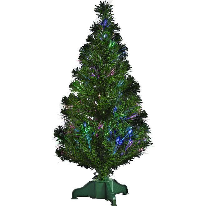 Arbre fibre optique Holiday Living, 93 embouts, 3 pi, vert
