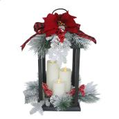 Holiday Living Lantern with Red Ribbon - 20-in