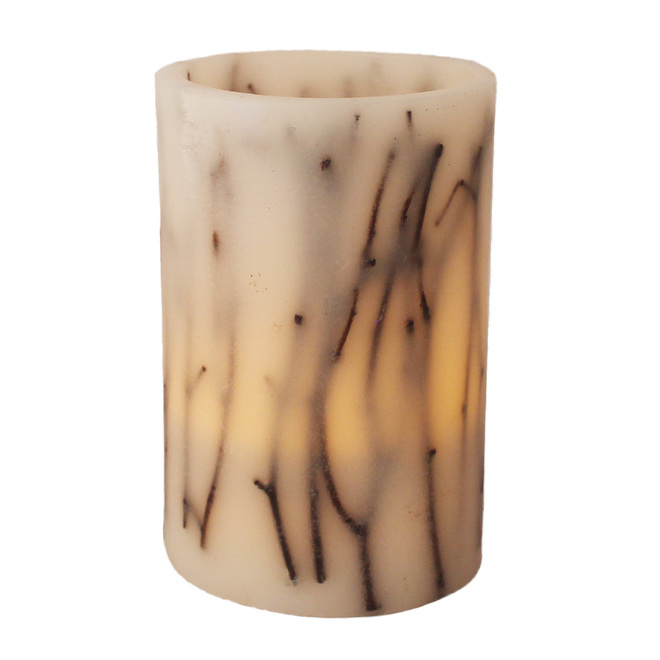 Holiday Living Wax Candle - LED - 4-in x 6-in - Warm White
