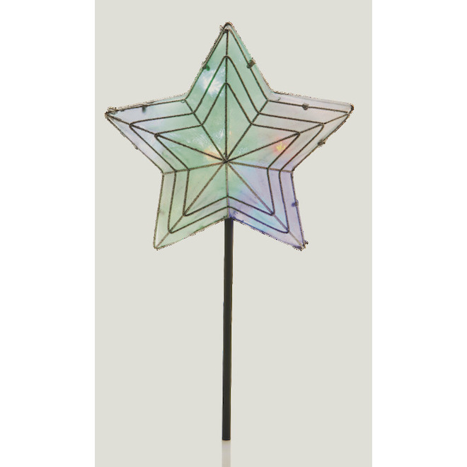 Holiday Living Star Tree Topper - 10 RGB Lights - Silver