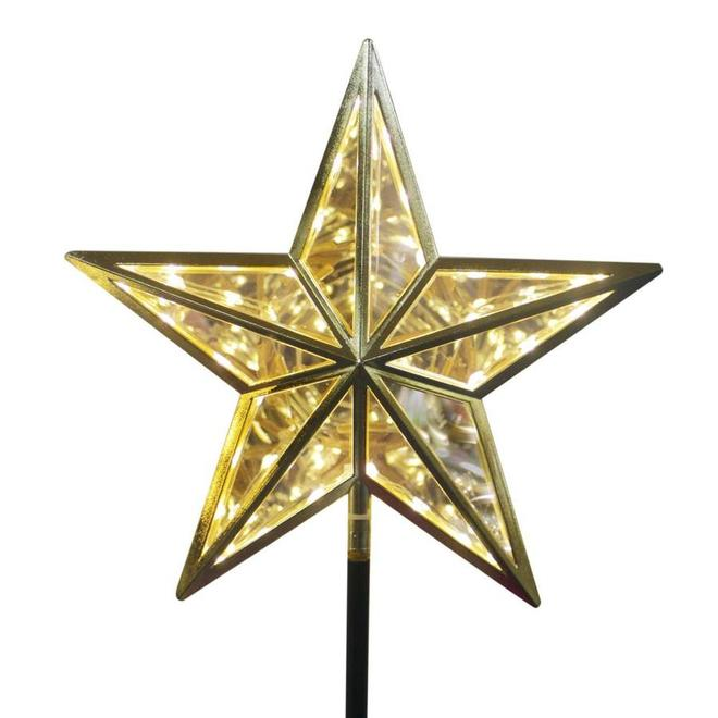 Holiday Living Star Tree Topper - 30 Lights - Gold