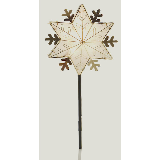 Holiday Living Star Tree Topper - 10 Lights - Gold