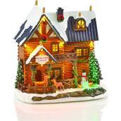 Scène illuminée et musicale Holiday Living avec chalet et rennes, Carole Towne, multicolore