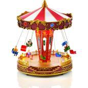 Manège de balançoires musical et animé Holiday Living avec lumière, Carole Towne, multicolore